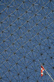 The Biosphere. In Montreal detail abstact photo, small canadian flag stock photography