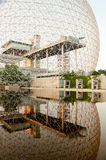 Biosphere building in Montreal. MONTREAL, CANADA - July 28: The Biosphere building, located at Parc Jean-Drapeau, made for expo in 1067, July 28 2014 Montreal stock photos