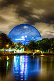 Biosphere. The Expo 67 biosphere at night stock image