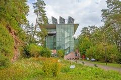 Biosphere house Pfaelzerwald / Nordvogesen. Fischbach bei Dahn, Germany - September 29, 2013: Biosphaerenhaus Pfaelzerwald / Nordvogesen (Biosphere house). The stock images