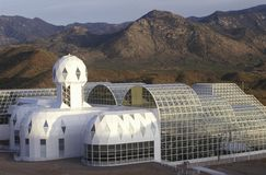 Biosphere 2 living quarters and library at Oracle in Tucson, AZ royalty free stock photo