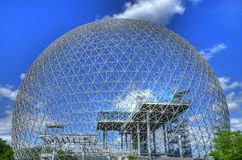 Biosphere in Montreal. The Biosphere on Isle Ste-Helene Royalty Free Stock Photography