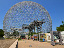 The Biosphere. MONTREAL-CANADA AUGUST 17 2016: The Biosphere is a museum in Montreal dedicated to the environment. Located at Parc Jean-Drapeau in the former stock photos