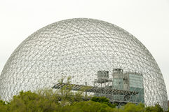 Biosphere - Montreal - Canada. Biosphere Grid in Montreal - Canada royalty free stock images