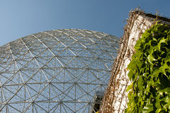 Biosphere - Montreal - Canada. Biosphere Grid in Montreal - Canada royalty free stock photos
