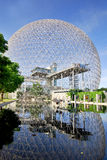 The Biosphere. MONTREAL-CANADA JUNE 23: The Biosphere is a museum in Montreal dedicated to the environment. Located at Parc Jean-Drapeau in the former pavilion stock photos