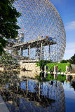 The Biosphere. MONTREAL-CANADA JUNE 23: The Biosphere is a museum in Montreal dedicated to the environment. Located at Parc Jean-Drapeau in the former pavilion stock image