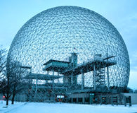 Biosphere. MONTREAL-CANADA 02 13 2017: Biosphere is a museum in Montreal dedicated to the environment. Located at Parc Jean-Drapeau in the former pavilion of the stock photo