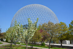 Biosphere. MONTREAL-CANADA 05 19 2017: Biosphere is a museum in Montreal dedicated to the environment. Located at Parc Jean-Drapeau in the former pavilion of the stock image