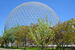 Biosphere. MONTREAL-CANADA 05 19 2017: Biosphere is a museum in Montreal dedicated to the environment. Located at Parc Jean-Drapeau in the former pavilion of the stock photos