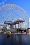Biosphere. MONTREAL CANADA 08 10 17: Biosphere is a museum in Montreal dedicated to the environment. Located at Parc Jean-Drapeau in the former pavilion of the stock photo