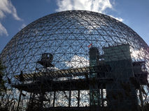 Biosphere in Montreal, Quebec. MONTREAL, QUEBEC -- MAY 29, 2015 -- The Biosphere, a structure designed by R Buckminster Fuller in 1967, boasts as the only North royalty free stock photo