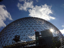 Biosphere in Montreal, Quebec. MONTREAL, QUEBEC -- MAY 29, 2015 -- The Biosphere, a structure designed by R Buckminster Fuller in 1967, boasts as the only North stock images