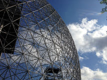 Biosphere in Montreal, Quebec. MONTREAL, QUEBEC -- MAY 29, 2015 -- The Biosphere, a structure designed by R Buckminster Fuller in 1967, boasts as the only North stock photo