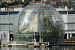 The biosphere by Renzo Piano in Genoa Stock Image