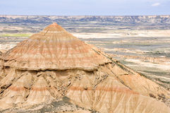 Biosphere reserve Bardenas Reales, Spain Royalty Free Stock Photos