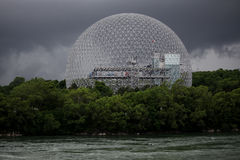 The Biosphere. Before the storm, Montreal, Canada royalty free stock photos