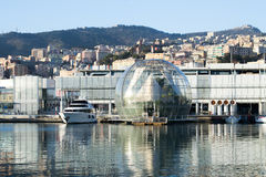 The biosphere in the town of Genova, Italy Royalty Free Stock Photos