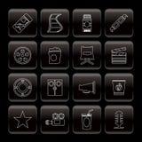 biosymboler line film Arkivfoto