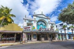 Bioteatertråd i Key West Fotografering för Bildbyråer