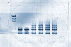 Biotech-/Medizin-Diagramm-Karte Lizenzfreie Stockfotografie