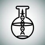 Biotech-Onderzoekfles Stock Foto