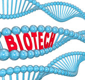 Biotech Word DNA Strand Medical Technology Research Lab Royalty Free Stock Photography