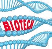 Biotech-Wort-DNA-Strangs-medizinisches Technologie-Forschungs-Labor Lizenzfreie Stockfotografie