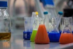 Biotechnological laborancki wyposażenie dla badania Kolby, bott Zdjęcie Stock