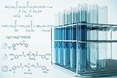 Biotechnologie en laboratoriumconcept royalty-vrije illustratie