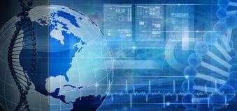 Biotechnologie und Gentechnik stock abbildung