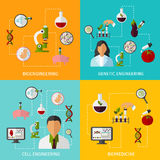 Biotechnology Banners Set Royalty Free Stock Photo
