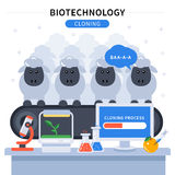 Biotechnology Colored Banner Stock Photography