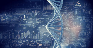 Biotechnology conceptual background Royalty Free Stock Photos