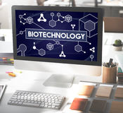 Biotechnology DNA Cell Molecule Experiment Research Concept Stock Photography