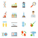 Biotechnology And Genetics Color Icons Stock Image