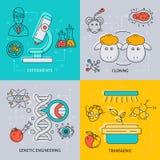 Biotechnology Icon Set Royalty Free Stock Image