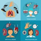 Biotechnology Icon Set Stock Photo