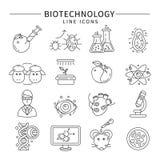 Biotechnology Icon Set Royalty Free Stock Photography