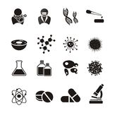 Biotechnology icon sets Royalty Free Stock Photos