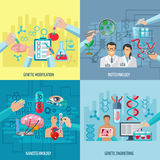 Biotechnology Icons Composition Square Concept Royalty Free Stock Photography