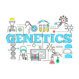 Biotechnology Linear Design Royalty Free Stock Photography