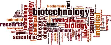 Biotechnology word cloud. Concept. Vector illustration royalty free illustration