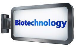 Biotecnologia sul fondo del tabellone per le affissioni illustrazione vettoriale