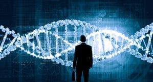 Biotecnologias e pesquisa do ADN foto de stock