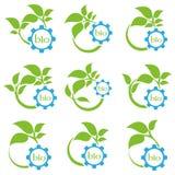 Biotekniktecken Eco kugghjul Royaltyfri Foto