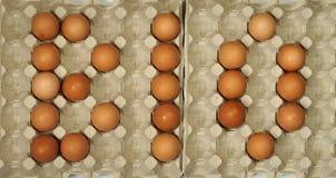 BIOtitel gemacht von den Eiern stockbild