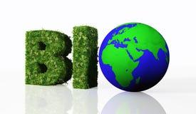 Biowort mit der Welt lizenzfreie abbildung