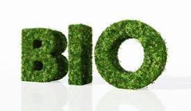 Biowort verfasst durch Gras stock abbildung