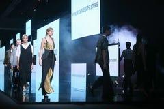 Bipa时尚 hr时装表演:节目Vrbanic,萨格勒布,克罗地亚 图库摄影